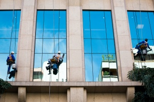 workers doing Commercial Window Replacement