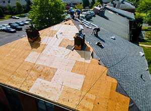 Roof replacement services on a home in Northern VA