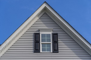 double hung window with white frame