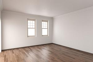 unfurnished room with hardwood flooring and single hung windows