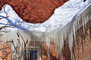 Ice dams on a Northern Virginia roof