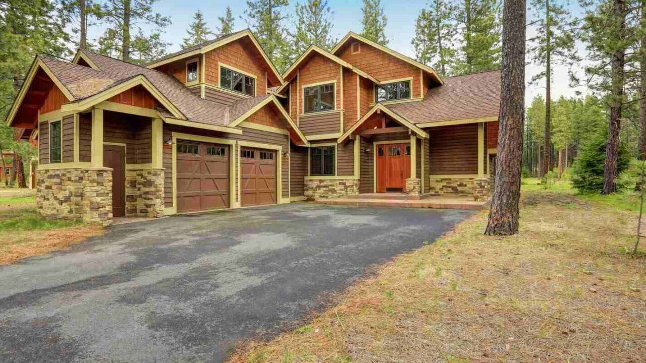 custom made home exterior accented with wood siding