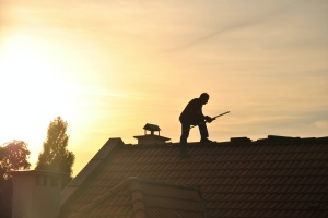 man on roof once the contract was financed