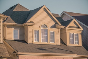 beautiful newer houses in a subdivision with new siding options