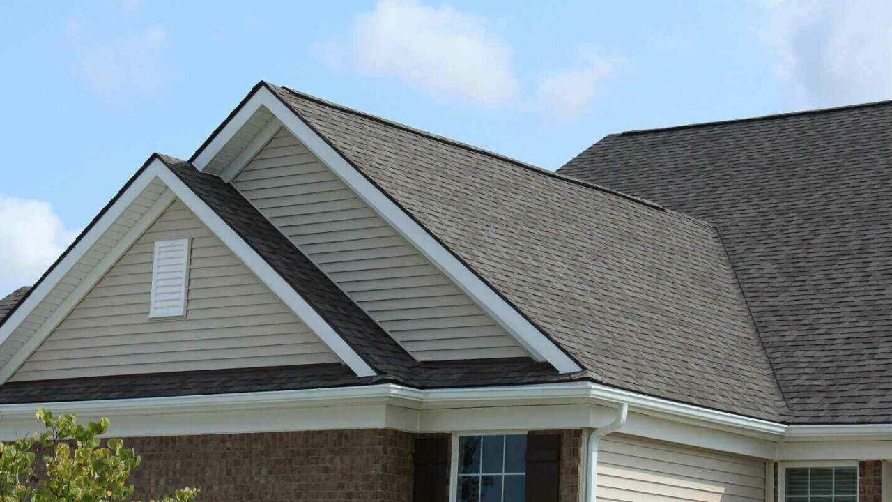 double gable siding close up on residential home