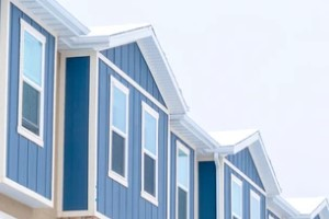 home with vertical siding