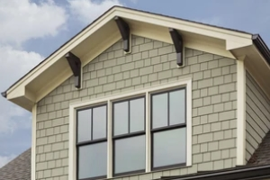 home with siding and double hung windows