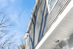residential home with new vinyl siding
