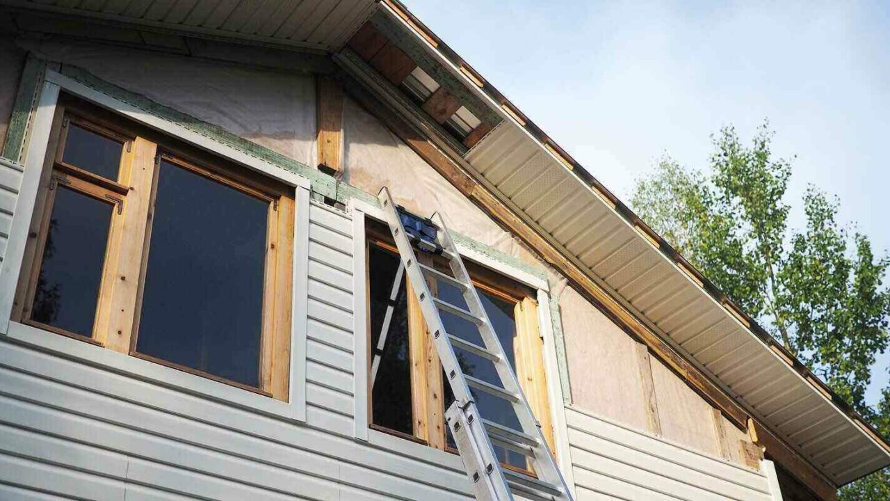 wrapped siding removal and repair