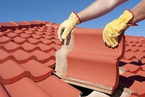 roof replacement work in progress