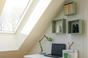 skylight window with laptop table